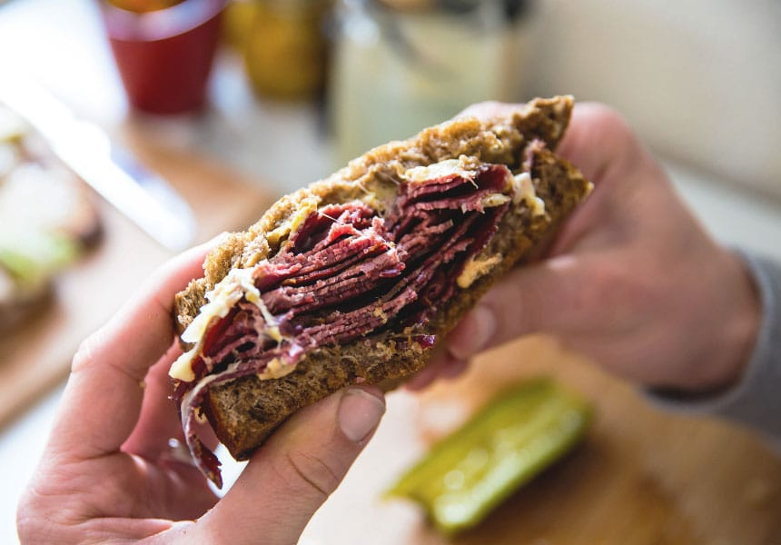 the flying fig Reuben sandwich
